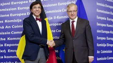 Elio Di Rupo et Ollo Rehn