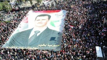 Manifestation de soutien à Bachar al-Assad à Damas