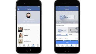 """Facebook lance l'outil de création vidéo """"Dites merci"""""""