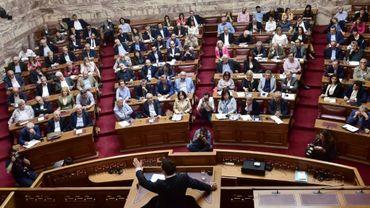 Le parlement grec en session à Athènes le 5 mai 2017