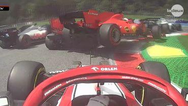 Leclerc et Vettel se percutent dans le premier tour