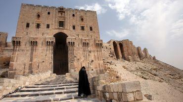 Entrée de la Citadelle d'Alep, en Syrie