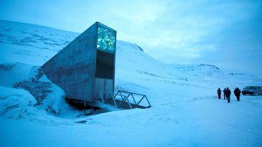 L'entrée de la banque mondiale de semences du Svalbard (Spitzberg), en Norvège, le 29 février 2016