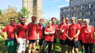 L'équipe RTBf qui participera aux 20km de Bruxelles aux couleurs de Cap48