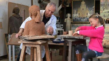 Yves Bosquet peintre et sculpteur dont l'œuvre fait la part belle aux portraits