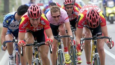 Rik Verbrugghe en rose sur le Giro 2001
