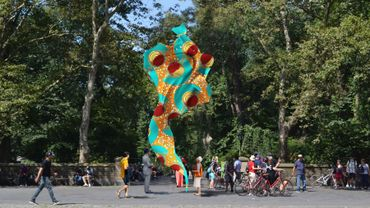 """Yinka Shonibare - """"Wind Sculpture (SG) I"""""""