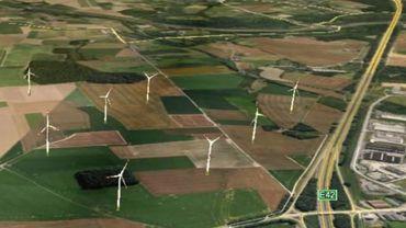 Le projet des éoliennes prévu à Gouy-lez-Piéton