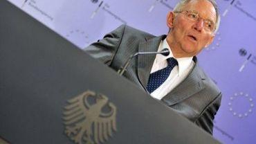Le ministre des Finances allemand Wolfgang Schäuble à Bruxelles, le 12 juillet 2011