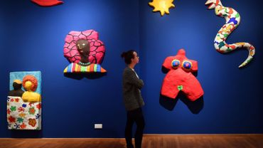 Exposition de Nikki de Saint Phalle (1930-2002) à Jena, en Allemagne