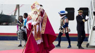 Saint-Nicolas lors de son arrivée à Anvers le 18 novembre 2017.