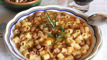 Sublime association: les pâtes et les haricots!