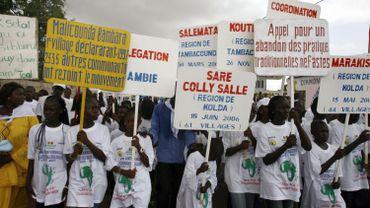Manifestation contre l'excision au Sénégal