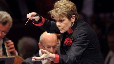 La chef d'orchestre américaine Marin Alsop. C'est elle qui dirigera l'Orchestre de Cleveland ce soir.