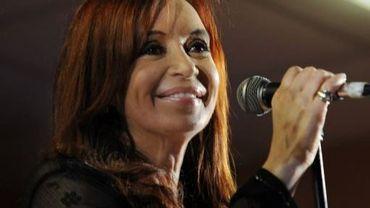 La présidente argentine Cristina Kirchner le 23 octobre 2011 à Buenos aires