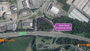 Perturbations pour accéder à l'autoroute E40/A3 à hauteur des Hauts-Sarts