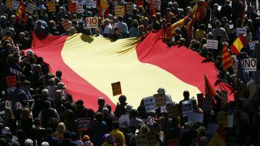 Manifestation pour le maintien de la Catalogne dans l'Espagne, le 19 mars 2017 à Barcelone