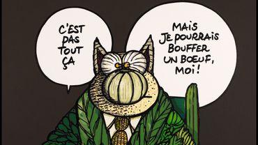 """""""Il a pris le melon"""" de Philippe Geluck"""