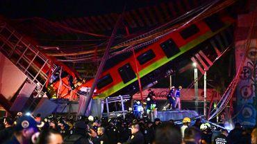 Un pont s'effondre à Mexico au moment où une rame de métro passait dessus, 13 morts et près de 70 blessés