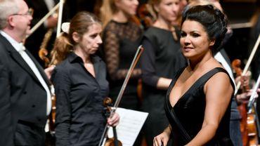 Anna Netrebko le 28 juillet à Salzbourg, lors de la première d'Adriana Lecouvreur