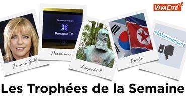 Les Trophées de la Semaine : France Gall, Proximus, Léopold II, la Corée et des femmes à contre-courant