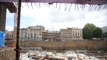 Le chantier Rive Gauche à ses débuts