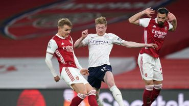 Kevin De Bruyne en action face à Arsenal
