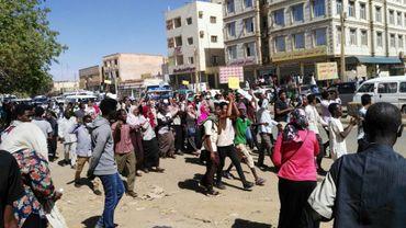 Manifestation antigouvernementale à Omdourman (Soudan), le 20 janvier 2019