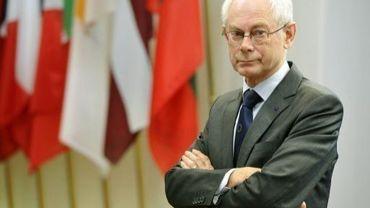 Le président du conseil européen, Herman van Rompuy, le 27 mars 2013 à Bruxelles