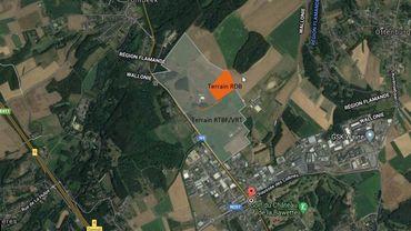 En rouge, la zone de 6 hectares où doit se construire le futur centre de psychiatrie légale