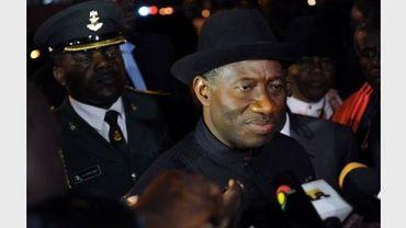 Le président nigérian Goodluck Jonathan à Accra, le 9 août 2012