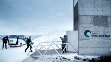 Arrivée de nouvelles semences en provenance du Japon à la Réserve mondiale de semences du Svalbard, à Longyearbyen dans l'Arctique 1er mars 2016