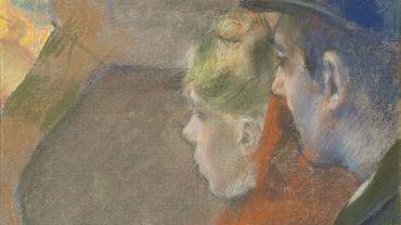 """Edgar Degas, """"Dans les coulisses"""""""