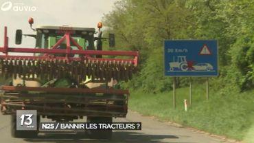 La solution consiste-t-elle à interdire purement et simplement les tracteurs sur la N25 ?