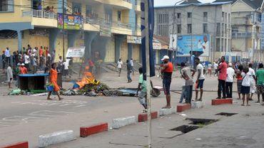 Une rue de Kinshasa, lundi 19 janvier