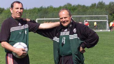 Football: Jean Nicolay avec Dominique D'Onofrio en 2000
