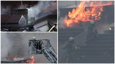Bruxelles: l'incendie de toiture à Bozar circonscrit, 2 pompiers blessés