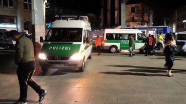 Des voitures de la police allemande