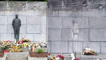 Le monument d'hmmage aux fusillés dépouillé de son symbole