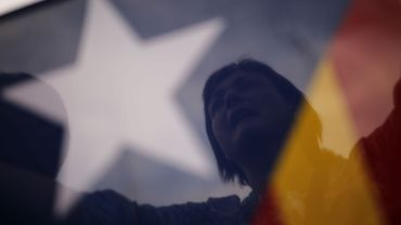 Manifestante indépendantiste à Barcelone le 21 octobre