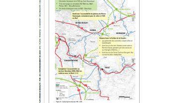 L'avant-projet de tracé de CHB de 2005 présenté dans le PUM de l'Agglomération de Liège