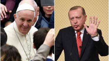 """""""La discussion s'est déroulée à l'initiative du président turc"""", a précisé la porte-parole du Saint-Siège."""