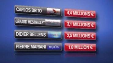 Les patrons les mieux payés de Belgique