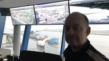 Le Chief Fire Officer de Liège Airport David Matagne fait office de snow manager