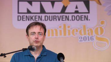 Bart De Wever, président de la N-VA, à La Panne, le 11 septembre 2016.