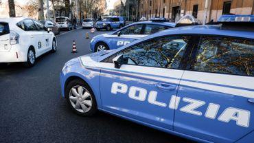 La police italienne sécurise une zone