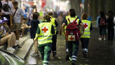 Les secouristes de la Croix-Rouge sont présents sur tous les festivals