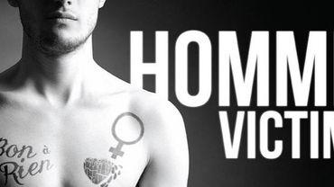 Affiche de la campagne pour sensibiliser aux hommes victimes de violence conjugale Province de Liège, département des affaires sociales