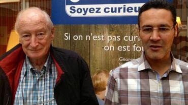Baudouin Janssens, coordinateur chez Amnesty Belgique, et Ahmed Hakim, responsable du CMGV