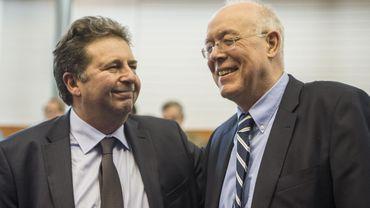 Charles Picqué et son successeur à la tête de la Région bruxelloise, Rudi Vervoort.